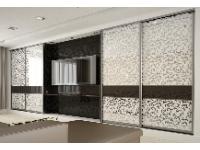 Шкафы-купе с декоративным стеклом