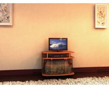 TV стойка за стеклом