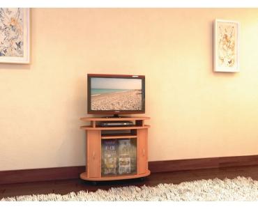 TV стойка овальная с полкой под DVD