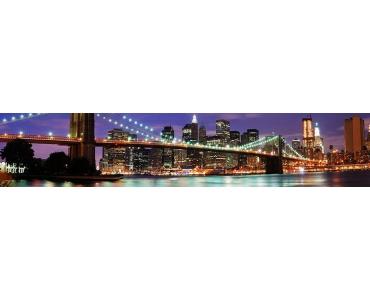 Фартук - Бруклинский мост ночной Нью-Йорк