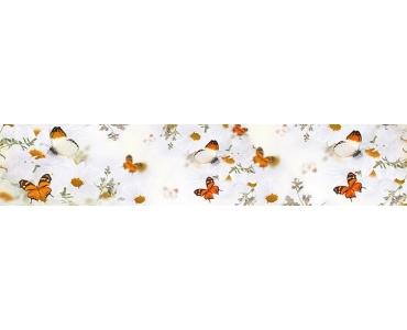 Фартук - бабочки и полевые цветы