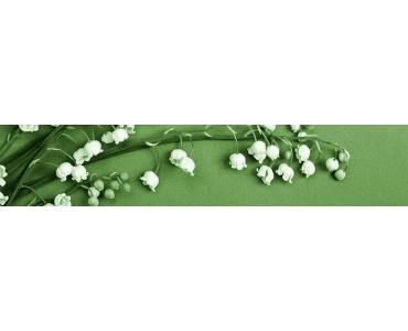 Фартук - ветка ландыша на зеленом фоне