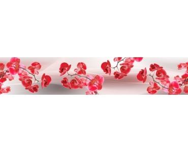 Фартук - ветки красных орхидей