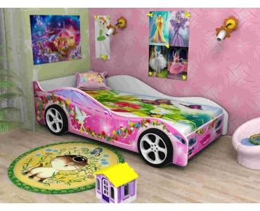 """Кровать """"Машинка"""" для девочек"""